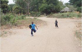 Running to the school