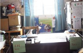 The headmaster's desk